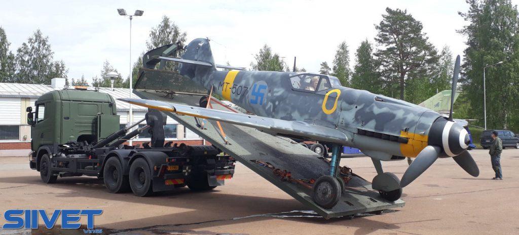 """Messerschmitt Bf 109 G-6 """"MT-507"""" - kuva Mika Rautasaari."""