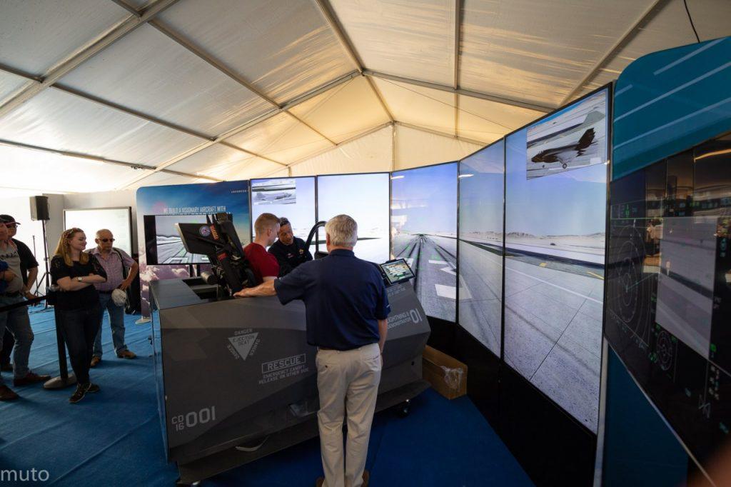 "Lockheed Martin F-35 -simulaattori. Kuva: Jari ""Muto"" Viitala"