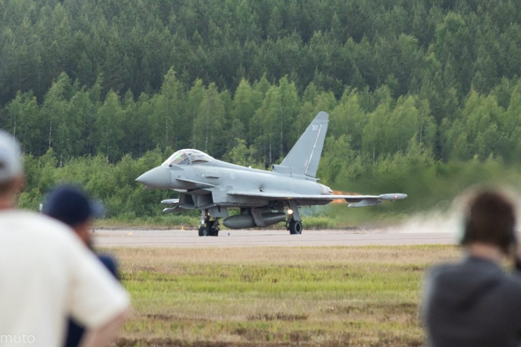 """Eurofighter Typhoon. Kuva: Jari """"Muto"""" Viitala"""