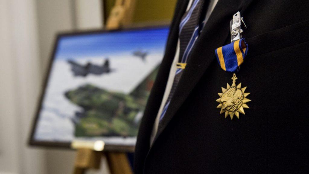USAF Air Medal - Ruotsalaislentäjät. Kuva: Ruotsin puolustusvoimat.