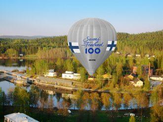 Suomen ilmailumuseon Suomi-kuumailmapallo