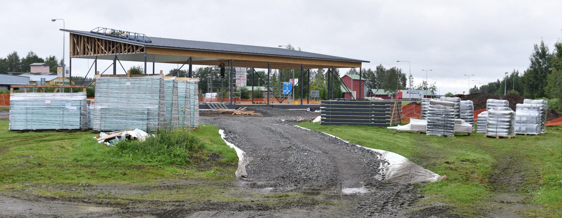 Kauhavan lentokonepuiston rakennustyömaa. Kuva: Timo Telen.