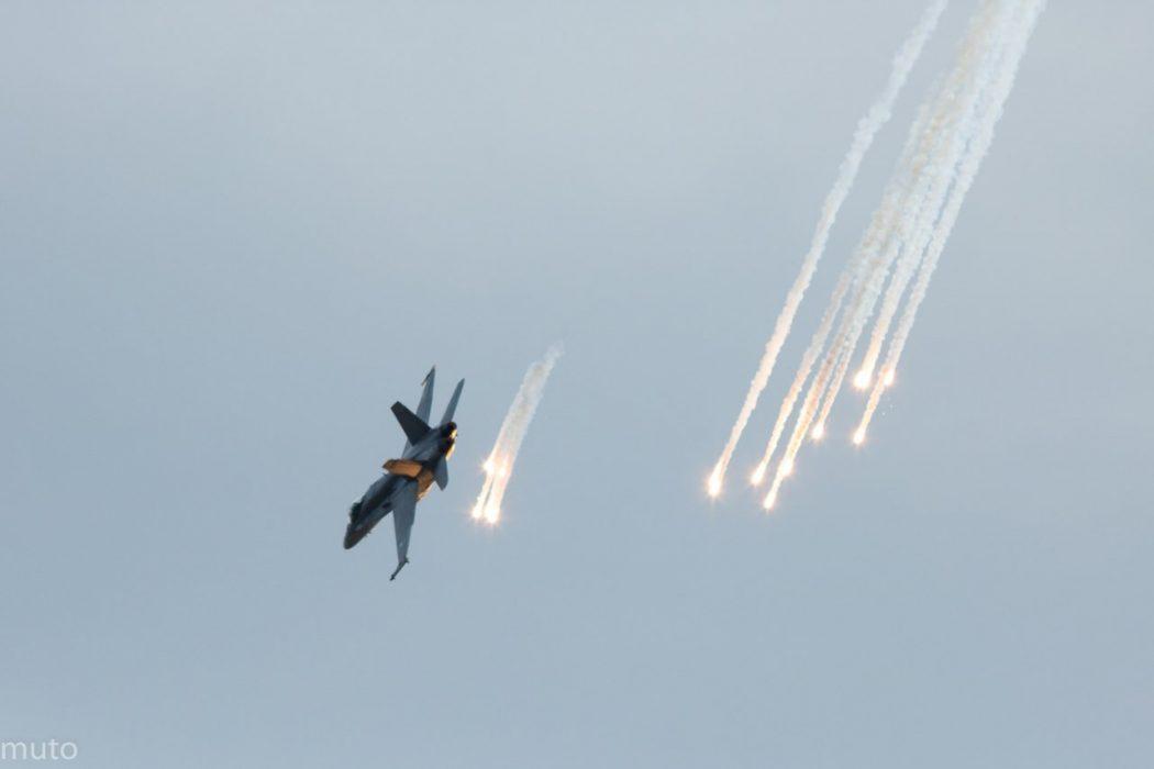 """F/A-18 Hornet C. Kuva: Jari """"Muto"""" Viitala"""