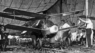 Liberty Eagle Aerial Torpedon prototyyppi vuodelta 1918. Kuva: USAF. Siivet 4/2016.