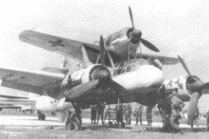Toisen maailmansodan lennokkisotaa. Vanhentuneet tai käytöstä poistetut pommikoneet saivat vielä yhden mahdollisuuden viimeiseen valkyyriamaiseen sotalentoon Mistel-yhdistelmän pommina. Focke-Wulf 190 + Junkers 88. Siivet 2/2016.