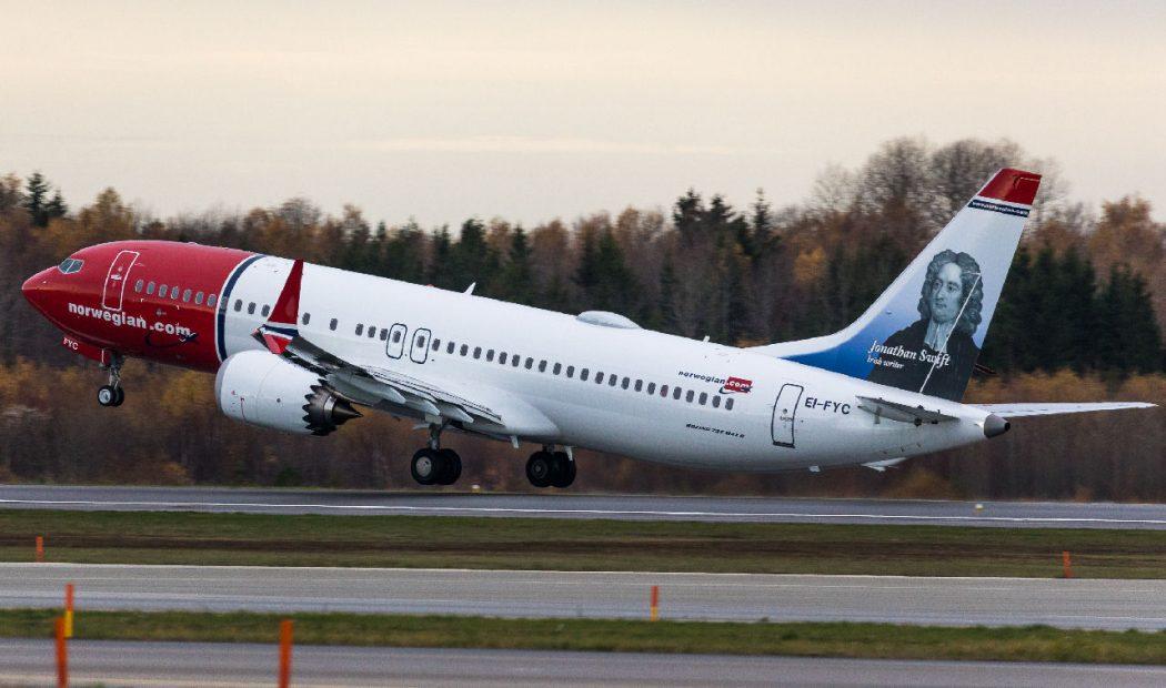 Norwegian 737 MAX. Kuva: David Peacock.