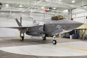 Yhdysvaltain merijalkaväen F-35B. Kuva: Lockheed Martin Aeronautics Company.