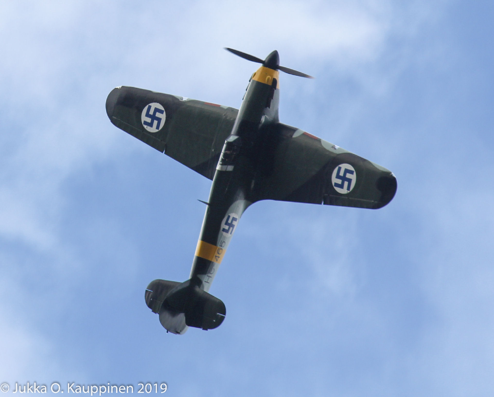 Hawker Hurricane HC-465. Kuva: Jukka O. Kauppinen.