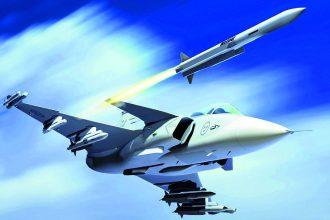 MBDA Meteor / JAS 39E Gripen. Kuva: Saab.