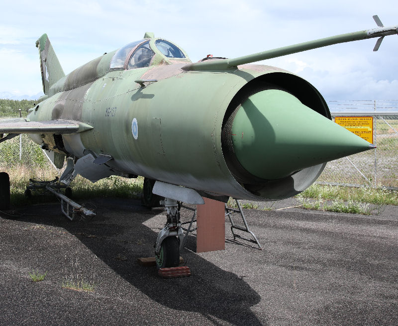 MiG-21. Karjalan ilmailumuseo. Kuva: Jukka O. Kauppinen