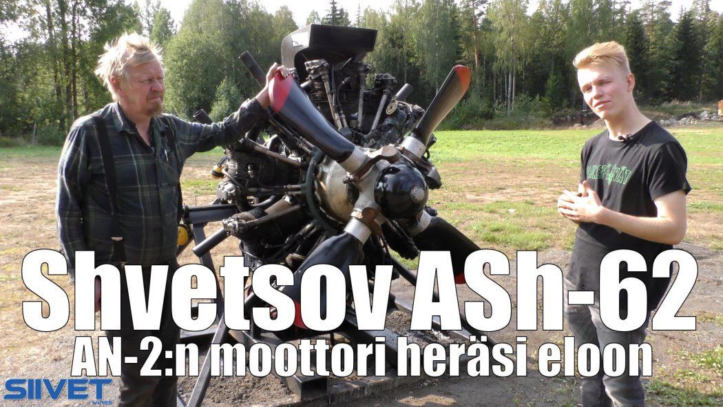 Otto Ruohola, Eero Rintala ja Shvetsov ASh-62 -moottori.